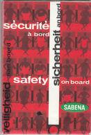Sabena: Security On Board Pamphlet - Transportation