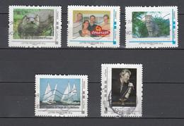 France,5V Timbre Personnalisé,loutre,déménage,chat,régates De La Rochelle,Johny Hallyday,Used/Gebruikt(L2902) - Gepersonaliseerde Postzegels