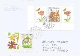 Czech Republic 2016 Breclav Orchid Paphiopedilum Venustum Tulip Butterfly Cover - Tschechische Republik