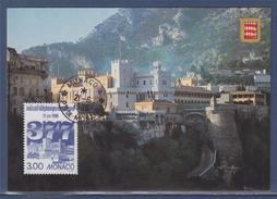 = Mise En Service Indicatif Téléphonique International Le Palais Princier Et Ses Remparts 2049 Monaco 21.6.96 - Cartoline Maximum