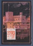 = Mise En Service Indicatif Téléphonique International Le Palais Princier Et Ses Remparts 2050 Monaco 21.6.96 - Cartoline Maximum