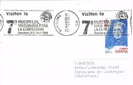 20779. Tarjeta BARCELONA 1986. 7ª Muestra De Maquinaria Confeccion - 1931-Hoy: 2ª República - ... Juan Carlos I
