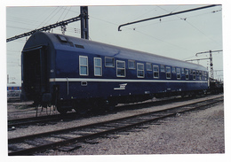 PHOTO Train Wagon Ou Voiture Lits Non Datée - Trains