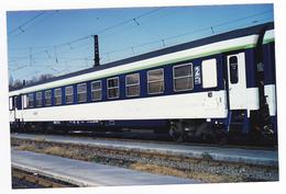 PHOTO Originale Train Wagon Ou Voiture Couchette De 2ème Classe Non Datée - Trains