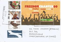 RSA South Africa 2016 Old Oak Democracy Freedom Charter Pearl Handicrafts Cover - Zuid-Afrika (1961-...)