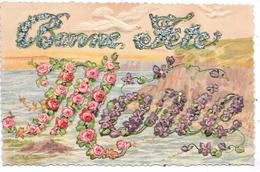 Bonne Fête MARIE - Série 3072 - Carte Gaufrée - Prénoms