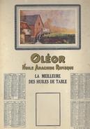 Calendrier 1938 - OLEOR - Huile Arachide Rufisque - Dimensions 32.5 / 22  Cm - Calendriers