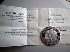 Daimler Benz Zilver-Munt/Medaille  Karl F. Benz & Gottlieb Daimler 1986 - [10] Commémoratives