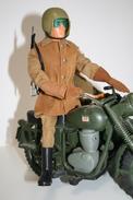 Vintage ACTION MAN EAGLE EYE : DISPATCH RIDER - + LEAFLET - Original Hasbro 1970 - Palitoy - GI JOE - Action Man