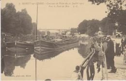 REPRODUCTION . MORET SUR LOING (77) Concours De Pêche Du 21 Juillet 1912 . Vers Le Pont De Bois - Moret Sur Loing