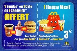 McDONALD'S Carte De Fidelité De Chelles - McDonald's