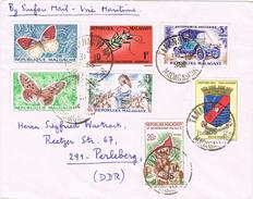 20790. Carta Por Mar TANANARIVE (Madagascar) 1966. Via Maritima, Surface Mail - Madagascar (1960-...)