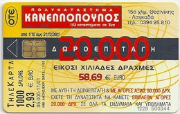 Greece - Kanellopoulos Department Store - X1345 - 11.2001 - 35.000ex, Used - Greece