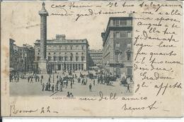 GISCA007 - ROMA - PIAZZA COLONNA - F.P. - VIAGGIATA 1901 - Places & Squares