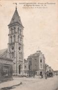 02SQT01D1 CPA 02 - 514. SAINT QUENTIN    ROUTE DE CAMBRAI ET L EGLISE ST JEAN - Saint Quentin