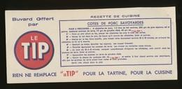 Buvard  -  LE TIP - Recette - COTES DE PORC SAVOYARDES - Buvards, Protège-cahiers Illustrés