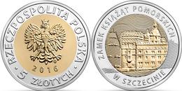 "POLAND 5 Zlotes 2.016 2016 Bimetalica ""Pomeranian Dukes' Castle In Szczecin"" SC/UNCirculated T-DL-11.982 - Pologne"