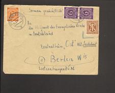 Alli.Bes.24 U.2 X 6 Pfg. Ziffer A.Fernbrief Aus Bodenwerder V.1947 AM-Post Nicht Gestempelt Da Ungültig Keine Nachgebühr - American,British And Russian Zone