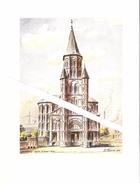 Lithographie De L'Eglise Saint Remi De Dampremy Par M.Evrard 1975 - Autres