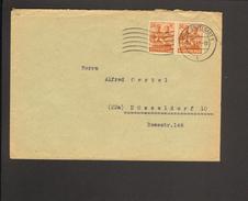 Alli.Bes.2 X 24 Pfg. Arbeiter Auf Fernbrief Aus Stuttgart Von 1947 - Zone AAS