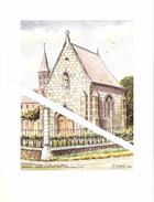 Lithographie De La Chapelle Saint Ghislain De Dampremy Par M.Evrard 1977 - Autres
