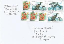 Ukraine 2003 Odessa Harbour Porpoise (Phocoena Phocoena) Common Shag (Phalacrocorax Aristotelis) Cormorant Poppy Cover - Oekraïne