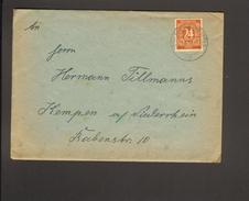 Alli.Bes.24 Pfg. Ziffer Auf Fernbrief Aus Rheine (Westf) Von 1947 - American,British And Russian Zone