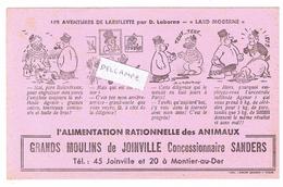 Buvard De  De Joinville Et Montier En Der  52, Sanders, Illustré Par Laborne Les Aventures De Lariflette - Advertising
