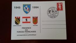 Cachet Illustré 1945-1994 Présence Des Forces Françaises à Berlin 26-27 Mars 1994 Bpm 600   Poste Aux Armées - Marcophilie (Lettres)