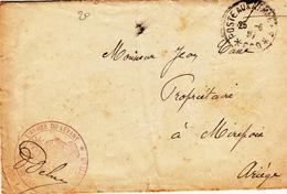 09 - Enveloppe D'une Lettre   De L'Armée Du LEVANT  Adressée à M. Jean Casse Propriétaire à MIREPOIX - Mirepoix