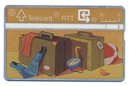 Belgique, Belgacom, Telecard 20, Thème, Saisons, été, Vacances, Valises - Jahreszeiten