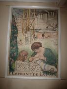 1914 Grande Affiche Ancienne Originale Signée Lebasque  L'EMPRUNT DE LA PAIX , Imprimerie Maquet Gr. Paris (118 X 85cm) - Afiches