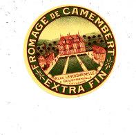 N 213   ETIQUETTE DE FROMAGE  - DEMI  CAMEMBERT  RENE LEVOISNELLES A GOUSTRANVILLE  (CALVADOS) (RARE EN PETIT MODEL) - Fromage