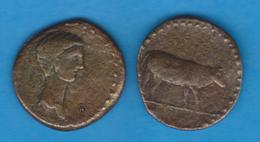 ALTO IMPERIO ROMANO CLAUDIO I (41-54 D.C.) SEMIS Bronce Ebusim Réplica  SC/UNC    DL-11.992 - 1. La Dinastía Julio-Claudia (-27 / 69)