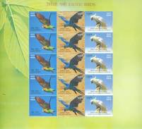 Exoctic Birds, Specially Designed Sheetlet Of 15 Stamps, 2016 - Oiseaux