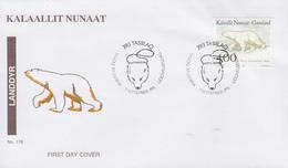 Enveloppe  FDC  1er  Jour    GROENLAND    OURS   Polaire   1995 - Bären