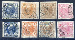 AUSTRIA 1899-1901 Newspaper Sets Fine Used.  Michel 97-104 - Journaux
