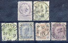 AUSTRIA 1891-96 Franz Joseph Definitive Set  Of 6 Fine Used.  Michel 63-68 - 1850-1918 Empire