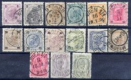 AUSTRIA 1899 Franz Joseph Definitive Set Fine Used. Michel 69-83 - 1850-1918 Empire