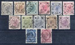 AUSTRIA 1890 Franz Joseph Definitive Set Fine Used. Michel 50-62 - 1850-1918 Empire