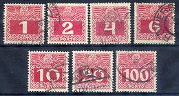 AUSTRIA 1909 Postage Due Thin Paper Set Used. Michel Porto 34y-44y - Postage Due