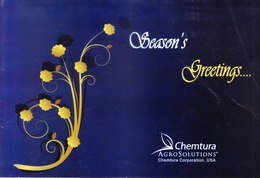 GREETINGS CARD - SEASON'S GREETINGS & HAPPY NEW YEAR - CHEMTURA AGROSOLUTIONS, U.S.A. - Old Paper