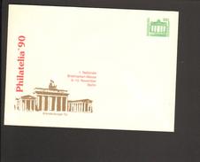 DDR 50 Pfg. Ganzsache 1990.Briefmarkenmesse Berlin Philatelia Brandenburger Tor - [6] Repubblica Democratica