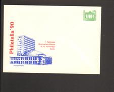 DDR 50 Pfg. Ganzsache 1990.Briefmarkenmesse Berlin Philatelia Kongreßhalle - Private Covers - Mint