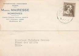 Momignies ,carte Publicité,Marcel Mairesse , Exploitation Forestière ,scierie - Momignies