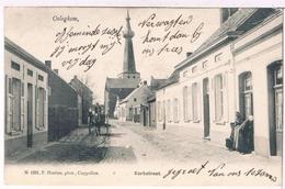 Oeleghem - Kerkstraat 1907  (Geanimeerd) - Ranst