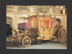 TRANSPORTS - MUSEU NACIONAL DOS COCHES LISBOA PORTUGAL - CARROSSE DE LA REINE MARIE ANNE D'AUTRICHE - XVIIIe SIÈCLE - Cartoline