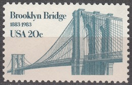 USA 1983, 100 Years BROOKLYN BRIDGE, COMPLETE, MNH SET, GOOD QUALITY, *** - Stati Uniti