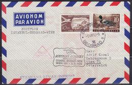 "Yugoslavia 1960 First Flight ""AUA"" Vienna - Beograd - Istanbul, Airmail Letter On Return To Vienna - 1945-1992 Repubblica Socialista Federale Di Jugoslavia"