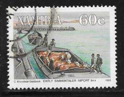 Namibia, Scott # 733 Used Cattle On Boat, 1993 - Namibia (1990- ...)
